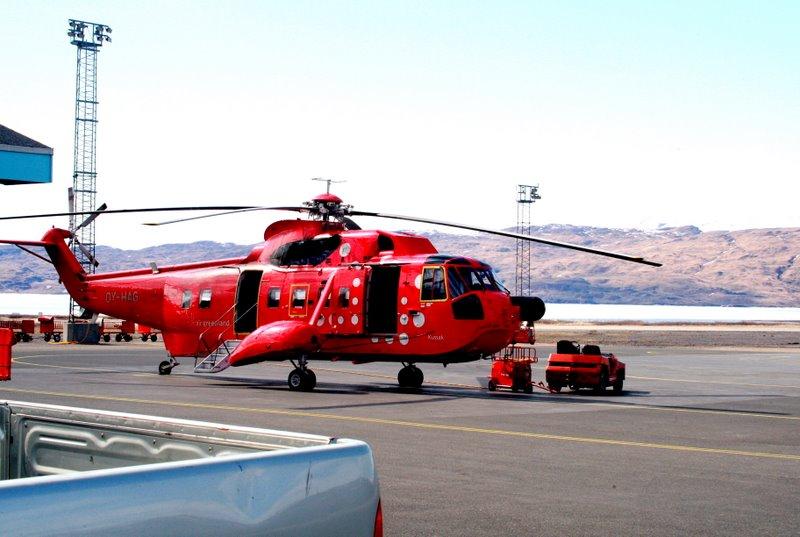 Rescue helicopter Narsarsuaq, Greenland