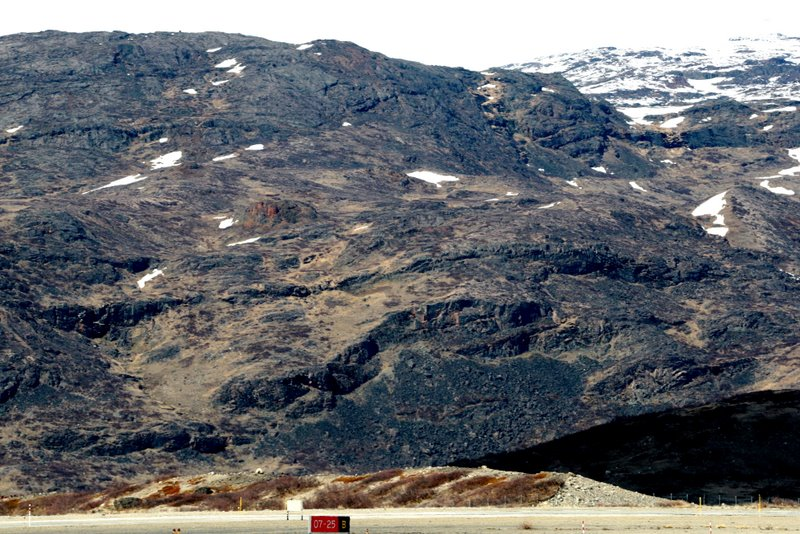 Panoramic view of gorge I landed in at Narsarsuaq, Greenland