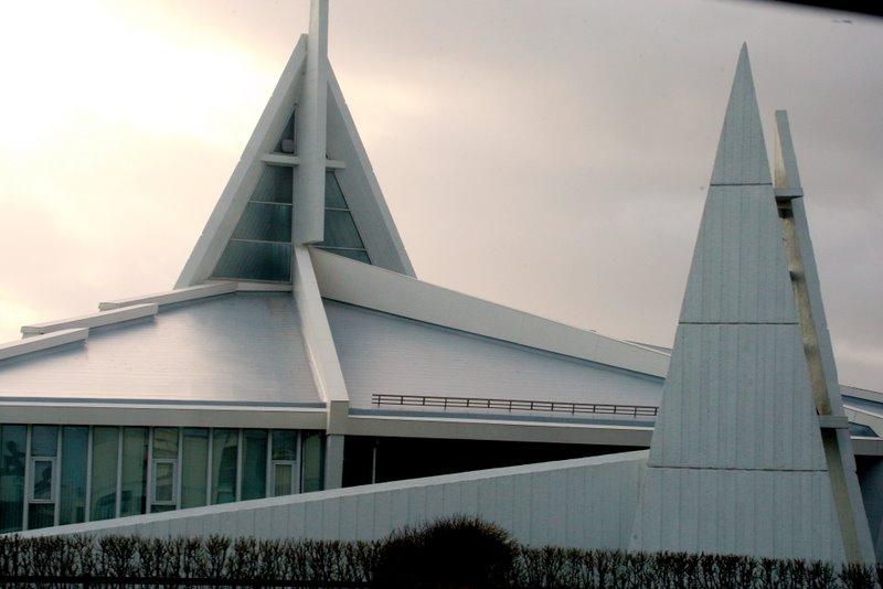 A neat church built like an anchor